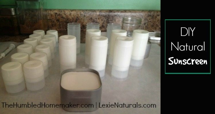 DIY Natural Sunscreen - TheHumbledHomemaker.com