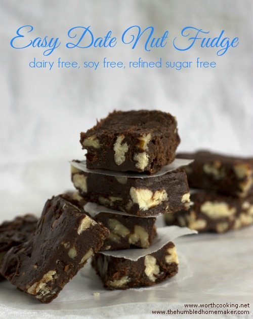 Not only is this date nut fudge dairy-free, soy-free, and refined sugar-free, but it's super easy to make!