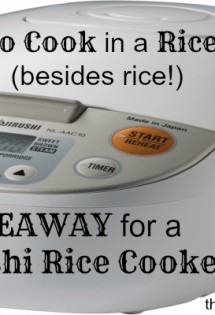 Giveaway for Zojirushi Rice Cooker