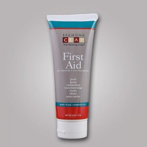 Redmond Clay's First Aid Clay is AMAZING! It has over 1,000 uses. This is all you need for your first aid cabinet!