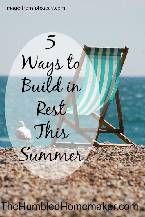 So how do you find rest and relaxation during those long, busy days? Simply put… you have to be intentional.