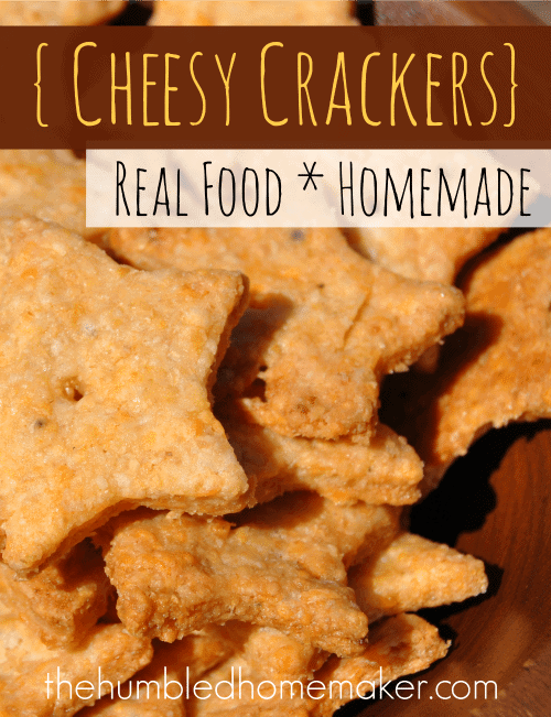 Homemade Real Food Cheesy Crackers - TheHumbledHomemaker.com
