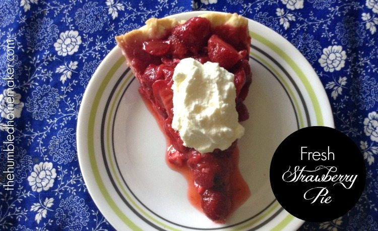I can't think of a more delicious way to showcase fresh strawberries than in a cold, lightly sweetened, bursting-with-juice strawberry pie. This dessert will be the show-stopper at your 4th of July picnic, or any time you serve it!