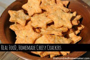 cheesy crackers - TheHumbledHomemaker.com