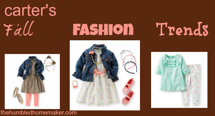 Carter's Fall Fashion Trends and coupon The Humbled Homemaker