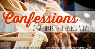 Confessions of a Thrift Shopping Novice -- TheHumbledHomemaker.com