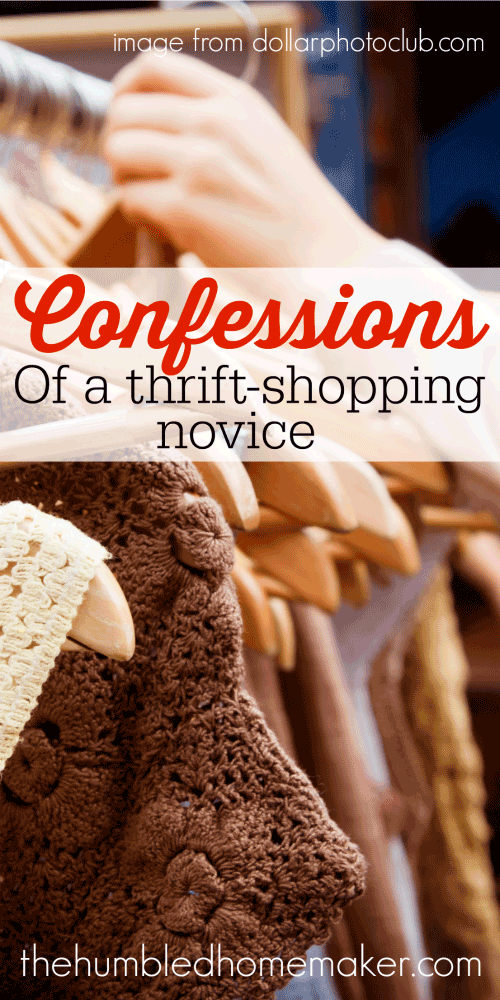 Confessions of a Thrift-Shopping Novice - TheHumbledHomemaker.com