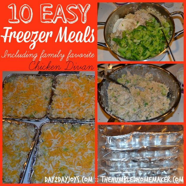 Easy dinners to freeze recipes