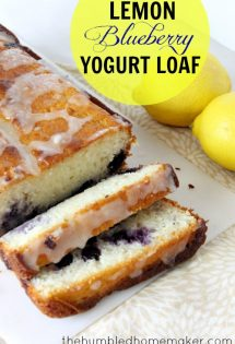 The bold summer flavors of this lemon blueberry yogurt loaf combine to create a moist & tender bread that makes a great breakfast, snack, or dessert that everyone will love.