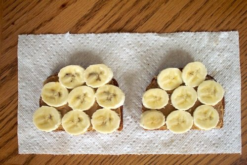 Peanut butter and banana toast is a great protein-rich breakfast for busy mornings.