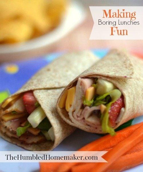 Making Boring Lunches Fun; www.thehumbledhomemaker.com