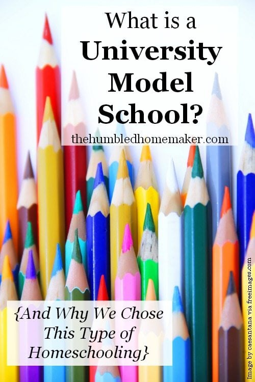 Find out all about the university model of homeschooling! This unique model is a part-time home and part-time school hybrid.
