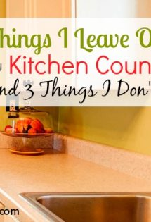 3 Things I Leave Out on My Kitchen Counters (And 3 Things I Don't)