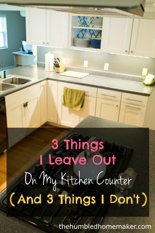 Over the past several years I've discovered the beauty and functionality of uncluttered counters. I find it quite liberating. Find out what I leave out on my counters and what I put away!