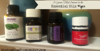 A Grace-filled Answer to the Essential Oils Wars