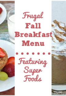 Frugal Fall Breakfast Menu with Super Foods - TheHumbledHomemaker.com