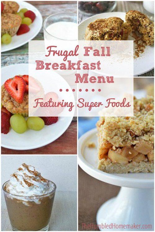 Frugal Fall Breakfast Menu - TheHumbledHomemaker.com