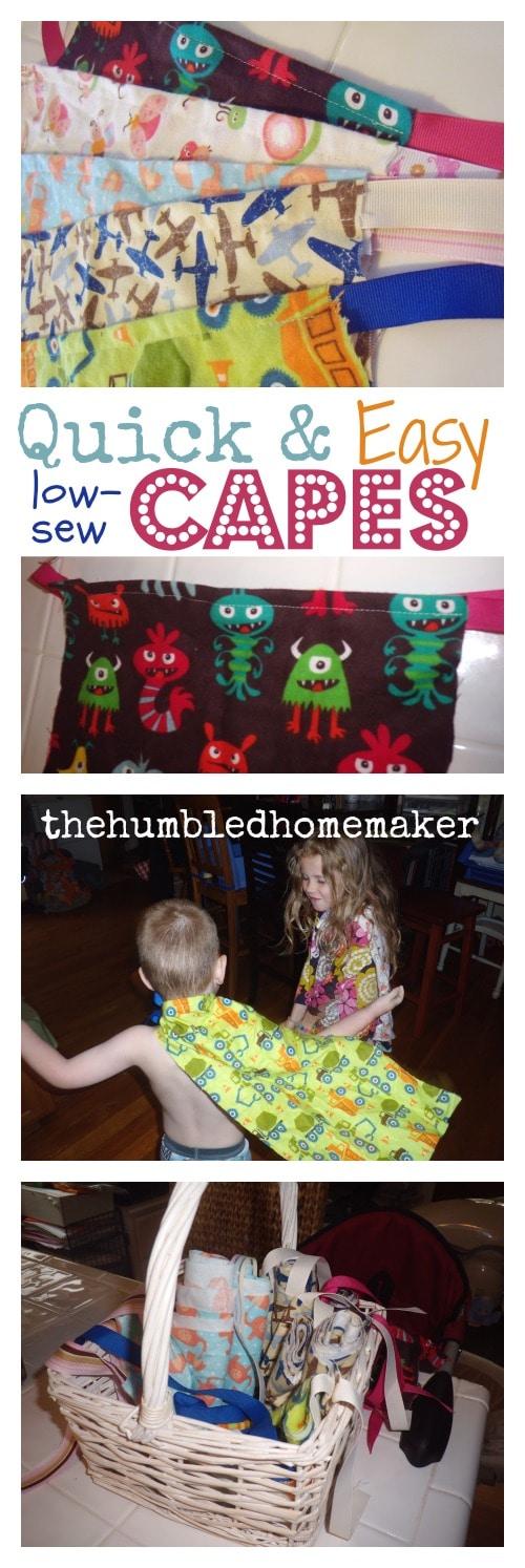 DIY Kids' Capes Tutorial - TheHumbledHomemaker.com
