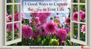 5 Good Ways to Capture the Joy in Your Life