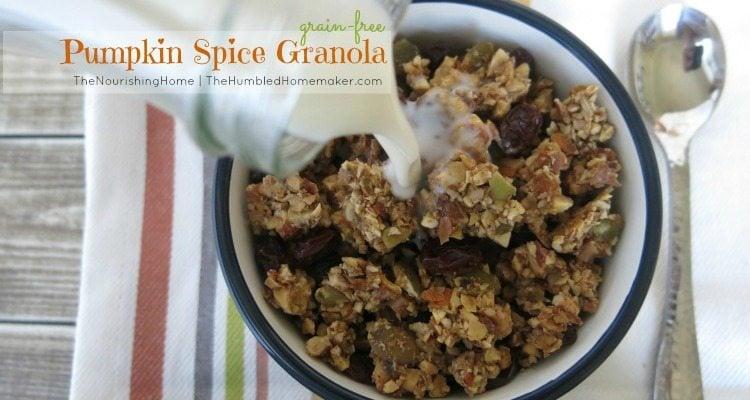 Pumpkin Granola - TheHumbledHomemaker.com