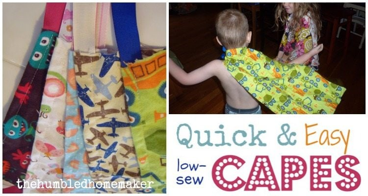 Quick Capes for Kids - TheHumbledHomemaker.com