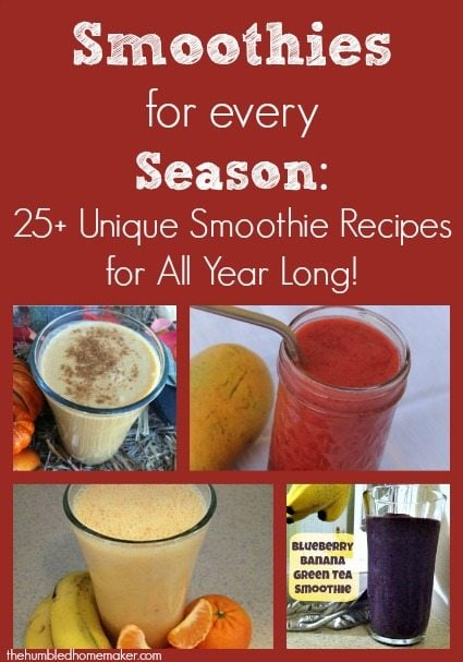 Smoothies for Every Season 25+ Unique Smoothie Recipes for All Year Long! The Humbled Homemaker