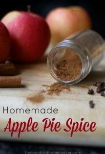 Making your own apple pie spice is much cheaper than purchasing a pre-made blend at the store. Adjust the spices to your own personal taste preferences.