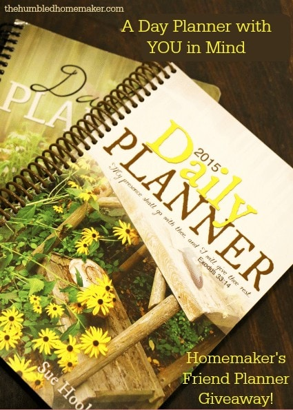 A Day Planner with YOU in Mind! Win a Homemaker's Friend Planner!