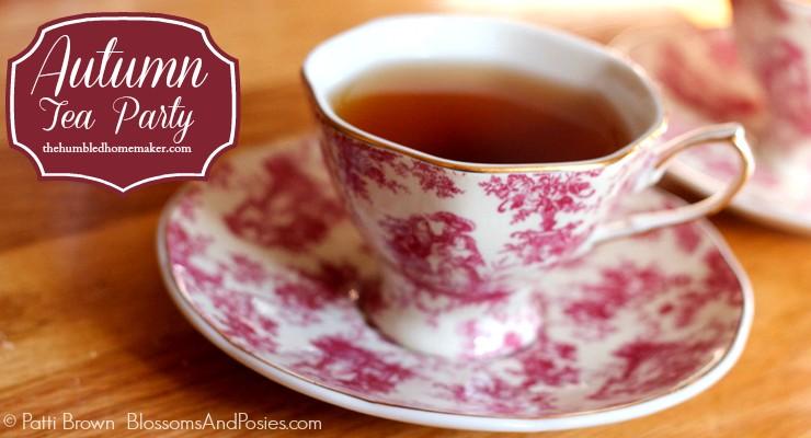 Autumn Tea Party - TheHumbledHomemaker.com