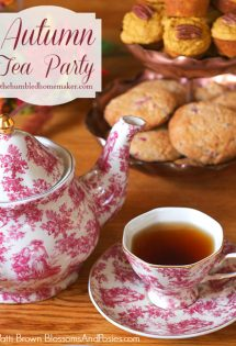 How to Host an Autumn Tea Party (with Fall Recipes and Table Settings)