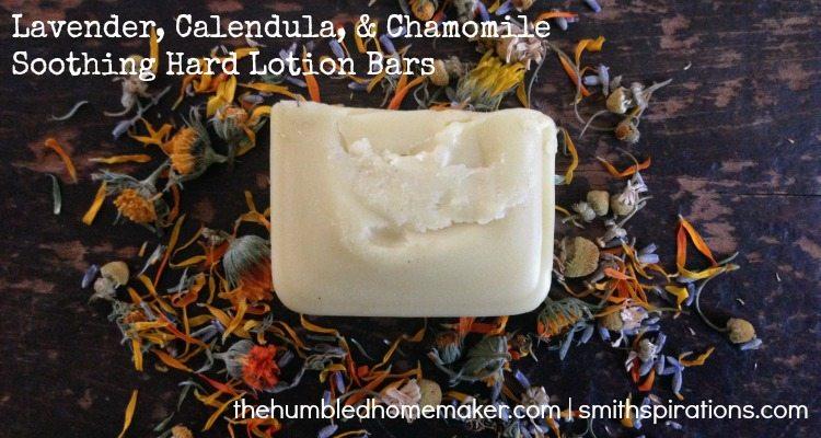 Lavender, Calendula, & Chamomile Hard Lotion Bars, 2