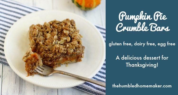 Pumpkin Pie Crumble Bars - TheHumbledHomemaker.com