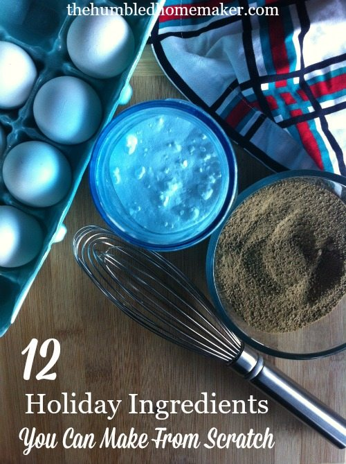 holiday ingredients