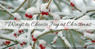 7 Ways to Choose Joy at Christmas cover