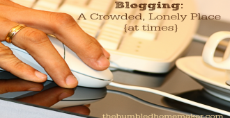 Blogging can be a crowded, lonely place