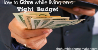 How to Give While Living on a Budget