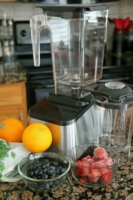 Making Smoothies in the Blendtec