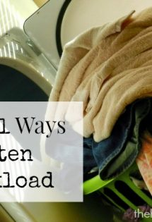 Practical Ways to Lighten Your Workload - TheHumbledHomemaker.com