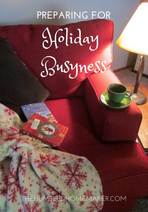 holiday busyness