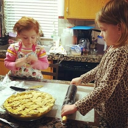 Making pies at Thanksgiving