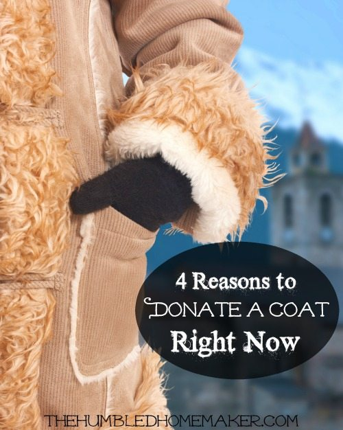 I had never considered all these reasons to donate a coat! I'm excited about doing this coat donation with my kids!