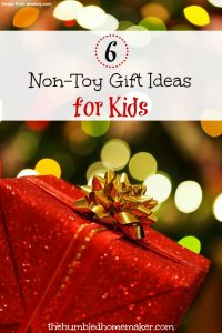 Our kids already have plenty of toys, so we like to branch out and buy them non-toy presents at Christmas! Here's a whole list of great gift ideas for children!