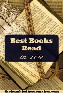 The Humbled Homemaker's Best Books of 2014