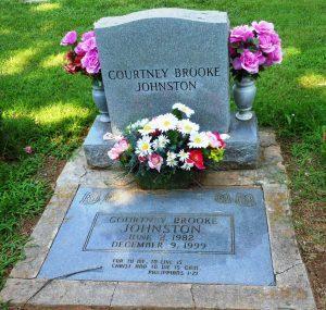 Courtney's headstone