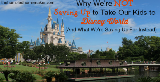 What we're saving for instead of saving for Disney