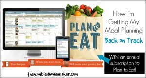 How I'm Getting My Meal Planning Back on Track
