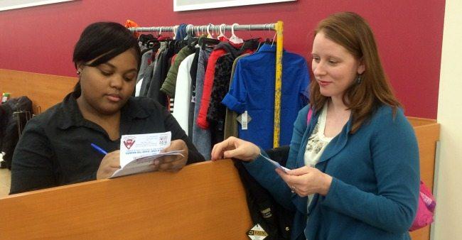 donating a coat at burlington