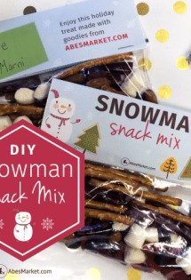 Your kids will LOVE this DIY Snowman Snack Mix!