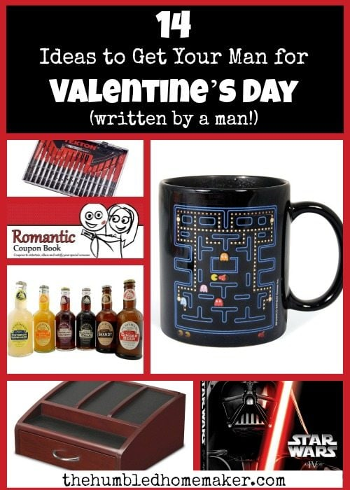 Great list of Valentine's Day gift ideas for men! This list was written by a man, and it has a broad range of options, depending on what your guy's interests are!
