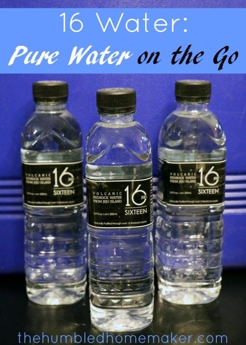 16 Water is perfect for traveling or for your emergency preparedness kit! I know I'm drinking safe bottled water with 16 water!